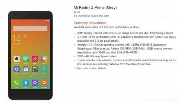 Harga dan Spek Lengkap Xiaomi Redmi 2 Prime