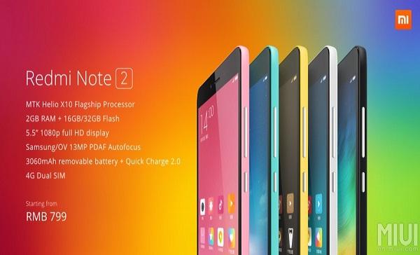 Harga dan Spesifikasi Xiaomi Redmi Note 2 Prime
