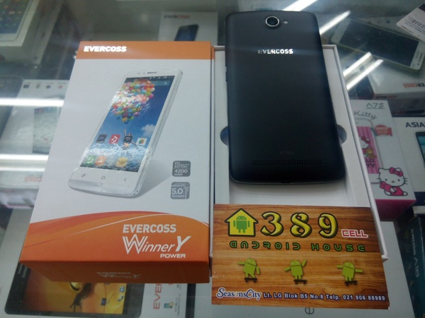 Evercoss Winner Y Power A75U Harga Spesifikasi & Review