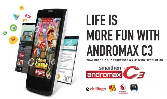Harga Smartfren Andromax C3 Dual Sim Update Terbaru 2015