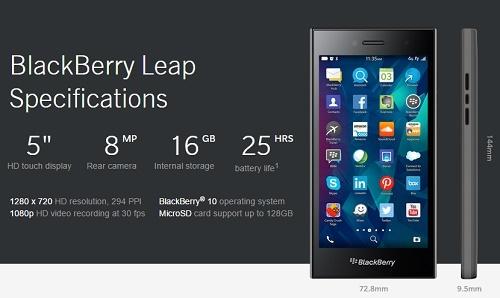 Harga dan Spesifikasi BlackBerry Leap, Hp BB 4G RAM 2Gb