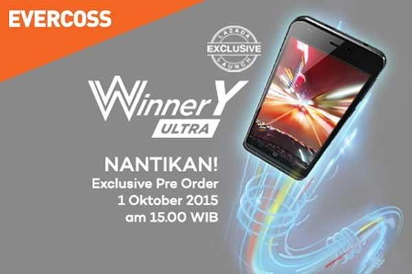 Harga dan Spesifikasi Evercoss Winner Y Ultra, HP RAM 2Gb